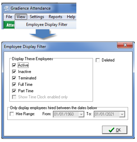gradience pro enterprise hide or display employees gradience